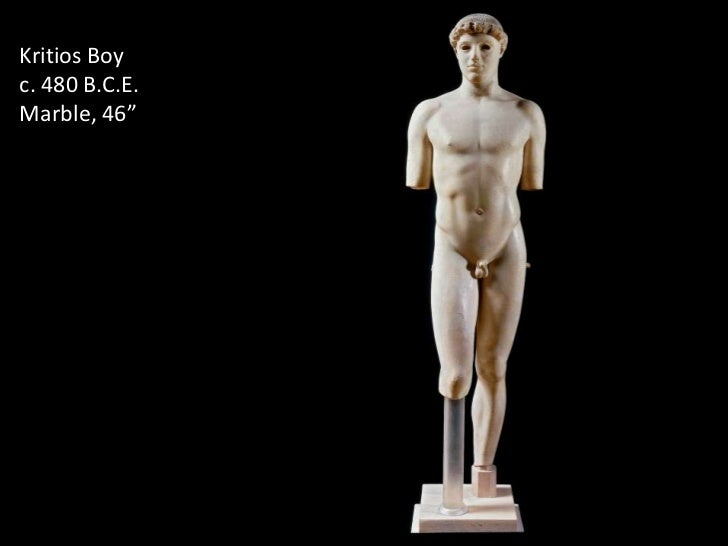 a comparison of the sculptures kouros and the kritios boy The kritios boy, found in athens, deep within the foundation of the acropolis, proves to be a major find defining a change in the times in ancient greece.
