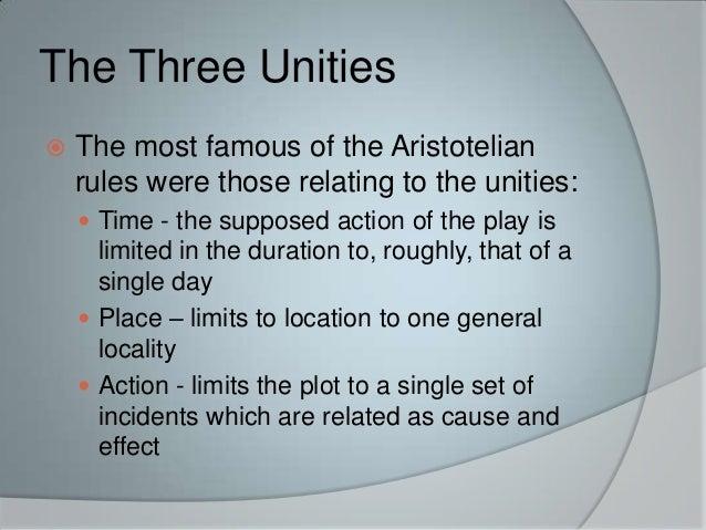aristotles three unities