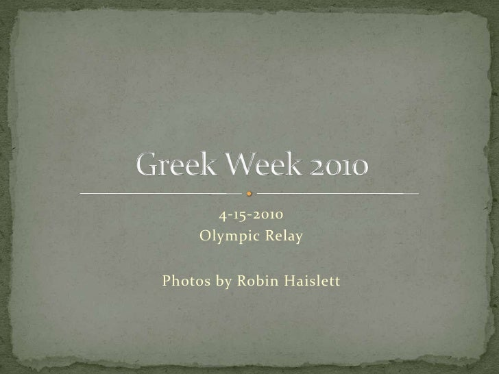 4-15-2010<br />Olympic Relay<br />Photos by Robin Haislett<br />Greek Week 2010<br />