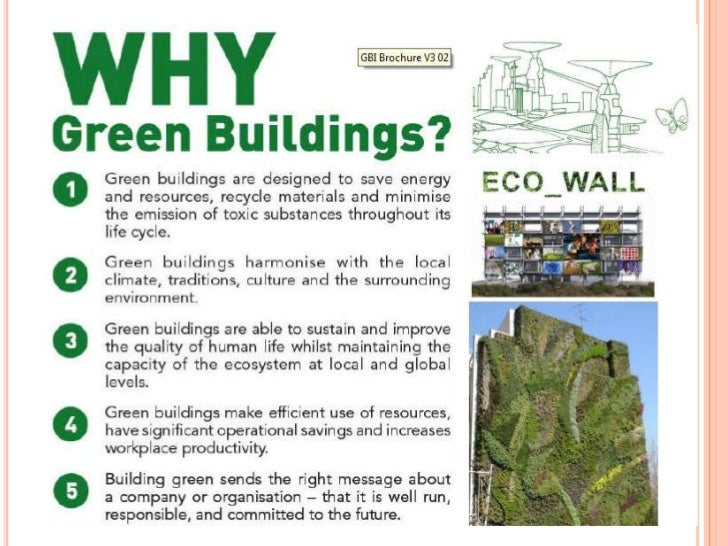 Green building index for Green building features checklist