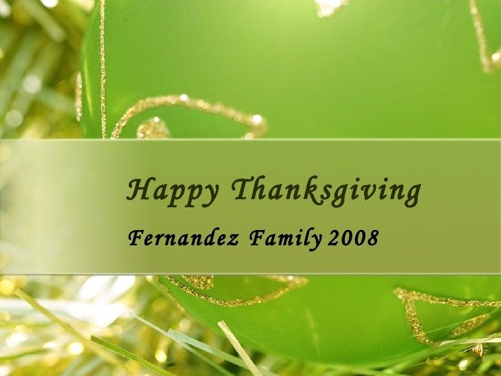 Happy Thanksgiving Fernandez Family 2008