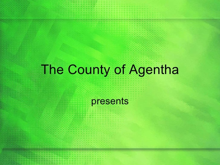Green Apple PowerPoint Template The County Of Agentha Presents
