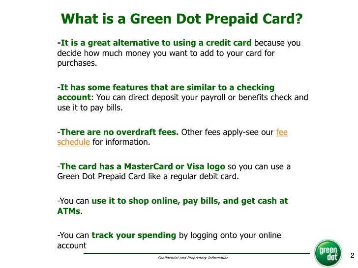 2 what is a green dot prepaid card - Add Money To Prepaid Card With Checking Account