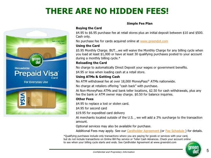 5 prepaid debit cardsgreen dot - Green Dot Visa Debit Card