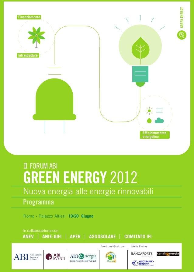 GREEN ENERGYFinanziamentoInfrastrutture                                                                                   ...