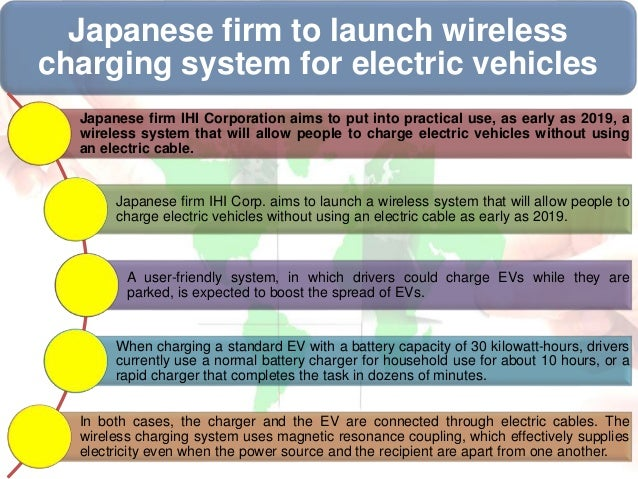 Green Innovation- wireless charging system for electric vehicles