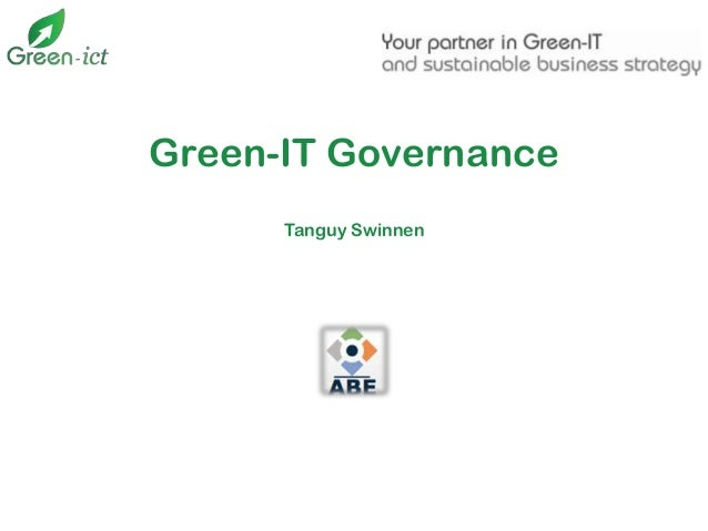 Green-IT Governance Tanguy Swinnen