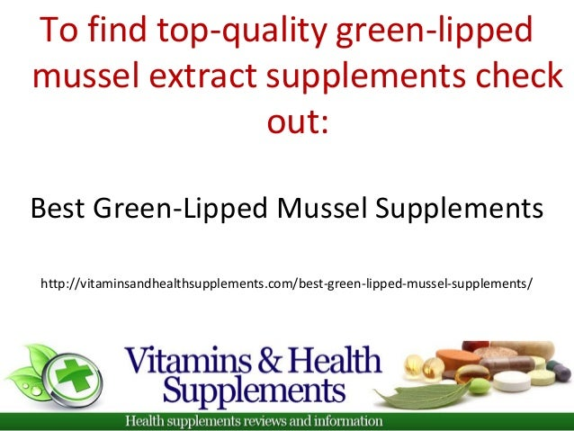 Health benefits of green lipped mussels