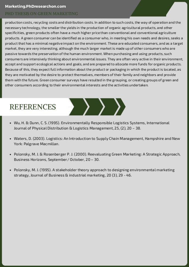 green marketing research proposal