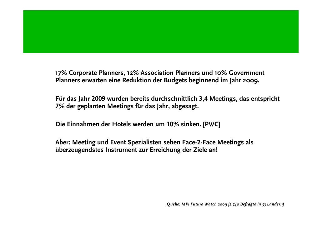 Green Meetings als Strategie in Krisenzeiten!
