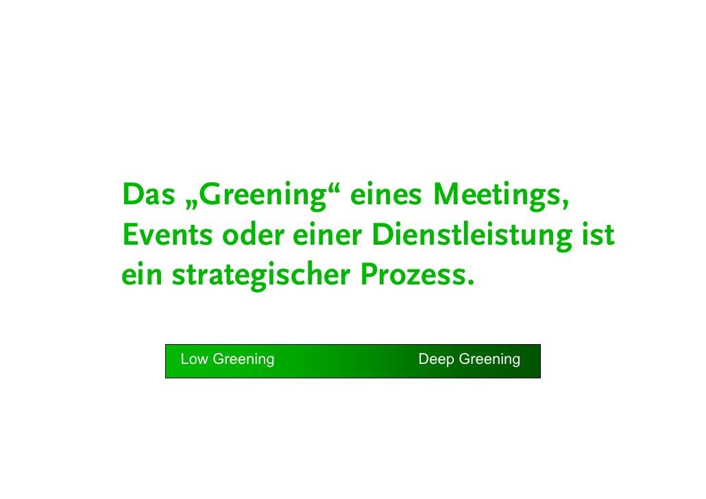 """Workshop  Maßnahmenkategorien """"Green Meeting"""" • Energie-Effizienz • Luft- & Wasserqualität • Wasserverbrauch • Müllveremei..."""