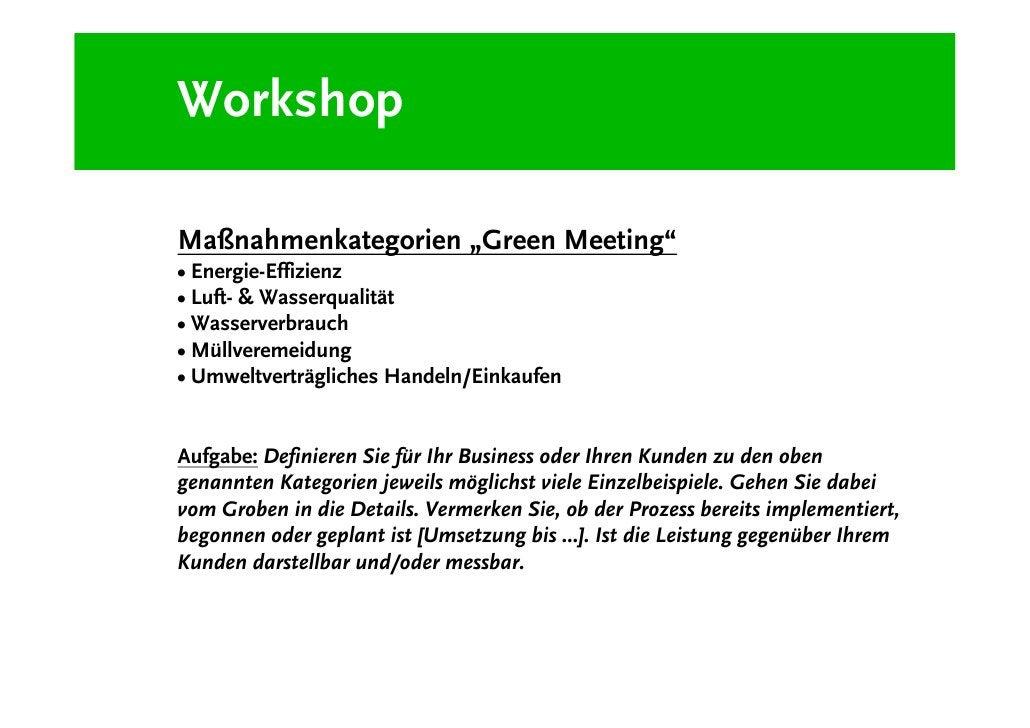Green Meetings - Why?
