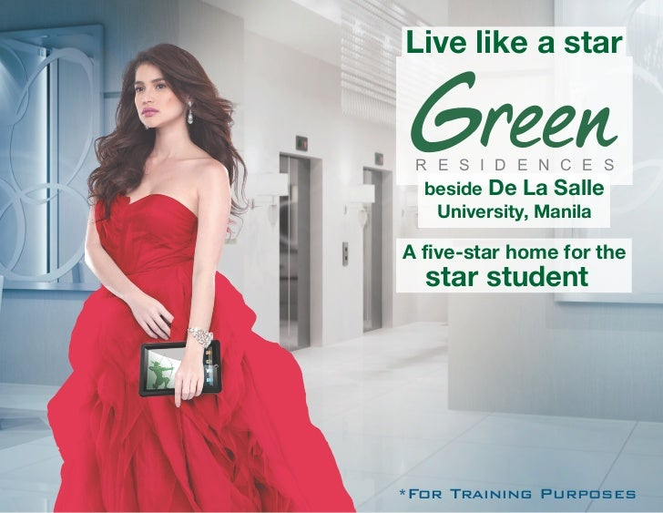 Live like a star R E S I D E N C E S  beside De La Salle   University, ManilaA five-star home for the  star student*For Tr...