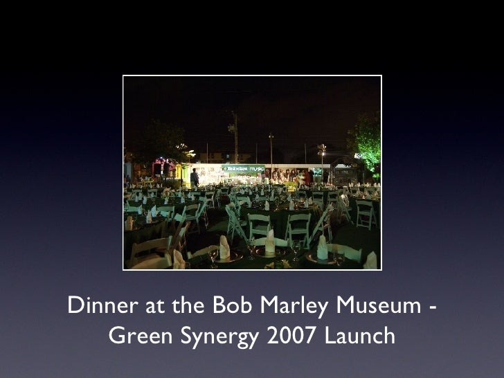 Dinner at the Bob Marley Museum - Green Synergy 2007 Launch