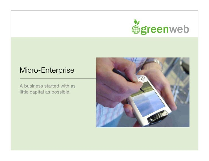 what is micro business enterprise