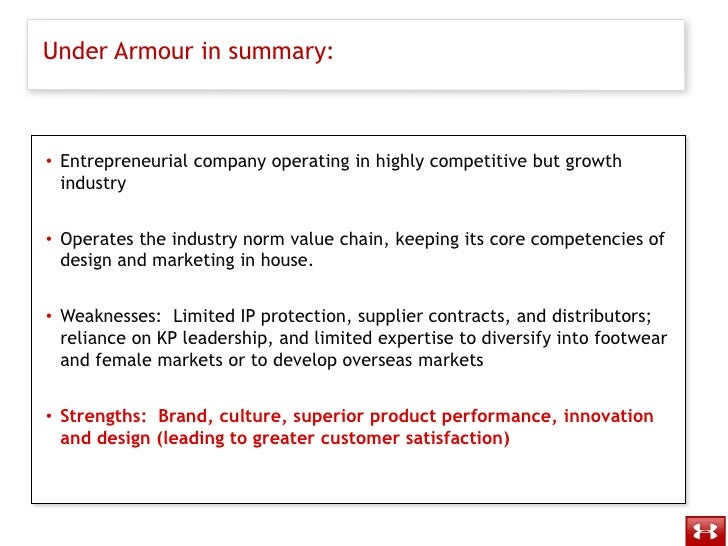 under armour core competencies Under armour is currently hiring for a part-time footwear lead - silverthorne, co the footwear lead is expected to model under armour's core competencies and i.