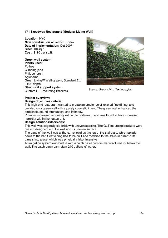 Introduction to green walls technology and benefits for Green wall advantages