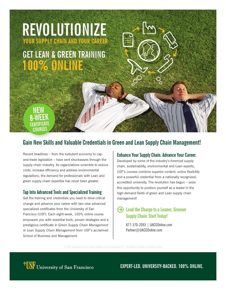 rEvOLUtiOnizE yOUr sUppLy chain and yOUr carEEr  GEt LEan & GrEEn traininG 100% OnLinE        nEW     8-WEEk     cErtifica...