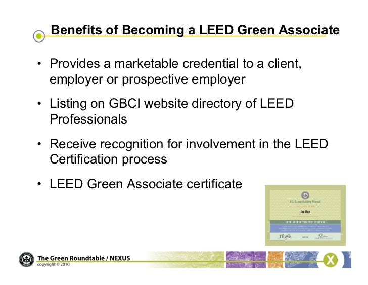 Webinar become a leed green associate for Advantages of leed certification