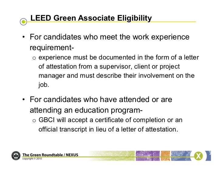 leed letter template - webinar become a leed green associate