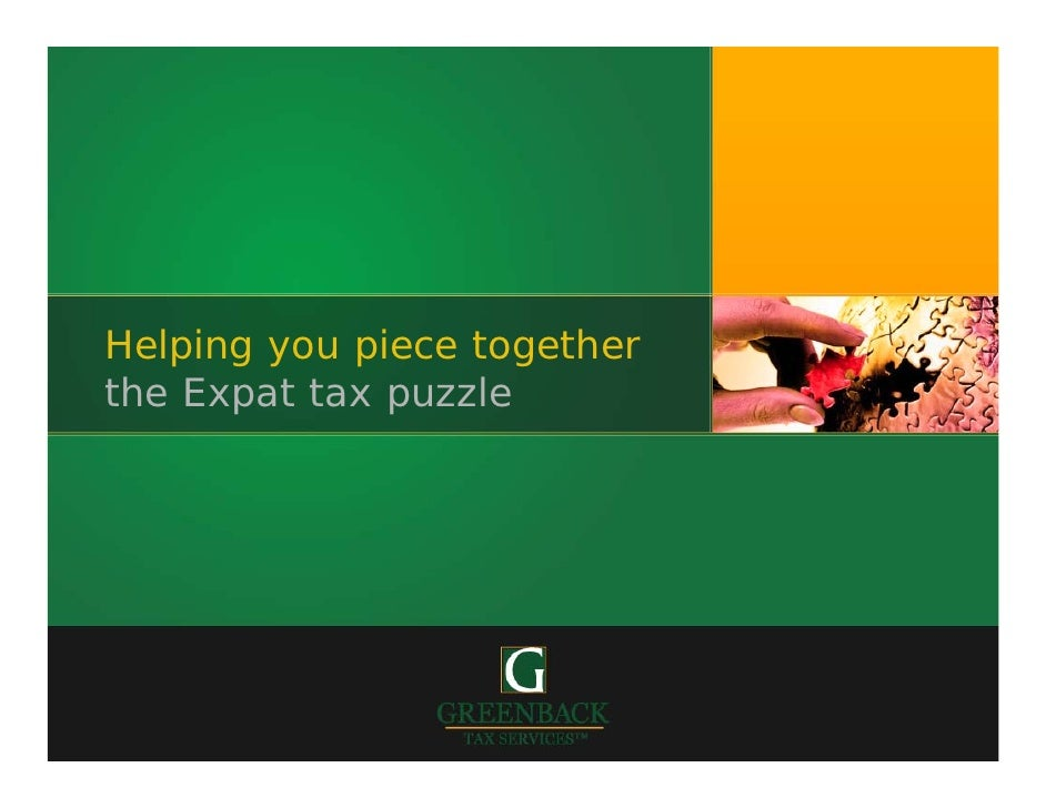 Helping you piece together the Expat tax puzzle