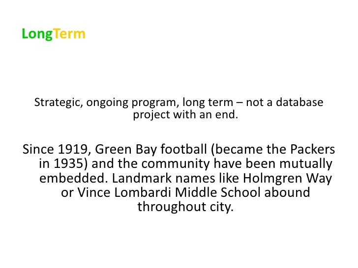 A Case Study In Social CRM Without Technology: The Green Bay Packers Slide 2