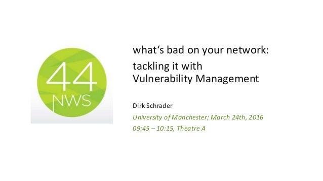 Greenbone vulnerability assessment  - Networkshop44 Slide 2