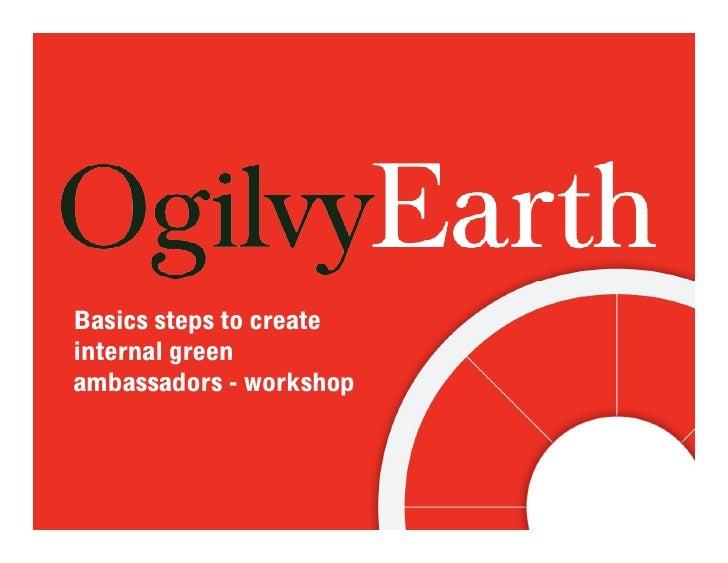 Basics steps to create internal green ambassadors - workshop
