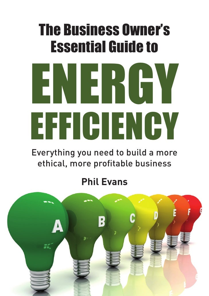The Business Owner's   Essential Guide toENERGYEFFICIENCYEverything you need to build a more ethical, more profitable busi...