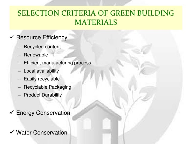 Green building for Green building features checklist