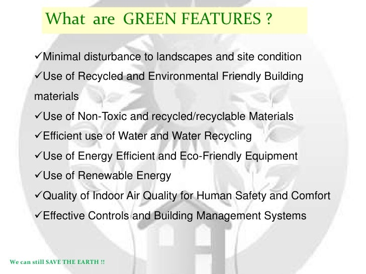 Benefits of a GREEN BUILDING ...