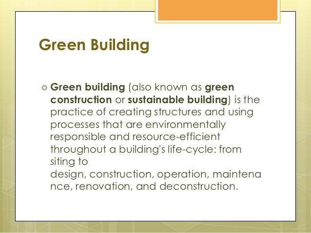 Green building Slide 2