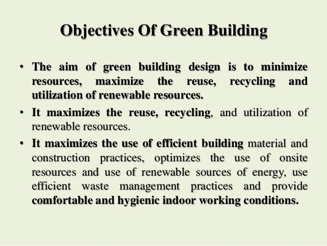 Green buildings objectives altavistaventures Gallery