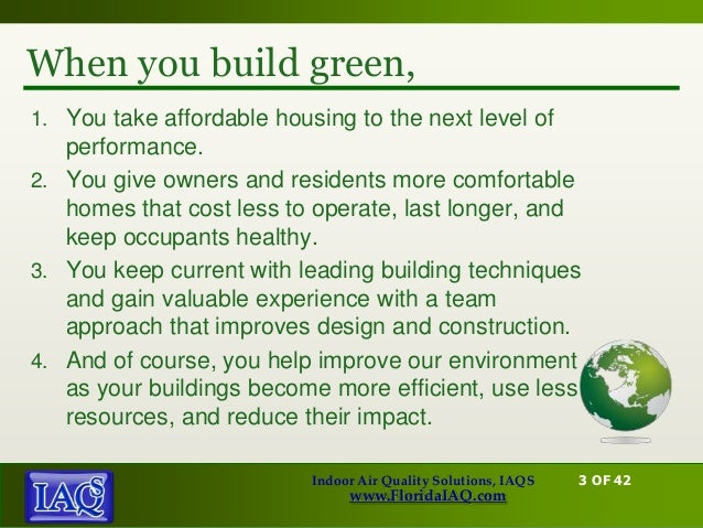 Green Building And Indoor Air Quality Indoor Air Quality