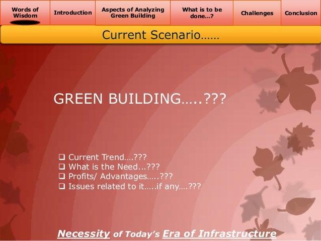 Green building challenges Slide 2