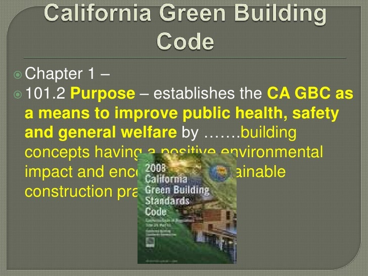 Green building codes, programs & rating systems