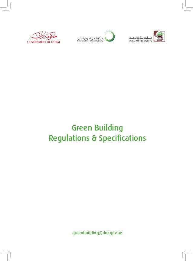 Green Building Regulations & Specifications  greenbuilding@dm.gov.ae