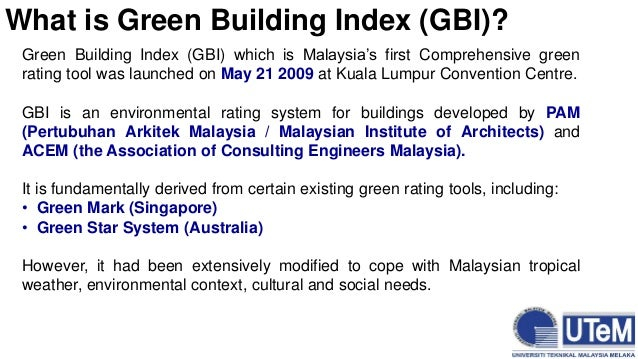 The Green Building Rating System Developed In Singapore Is