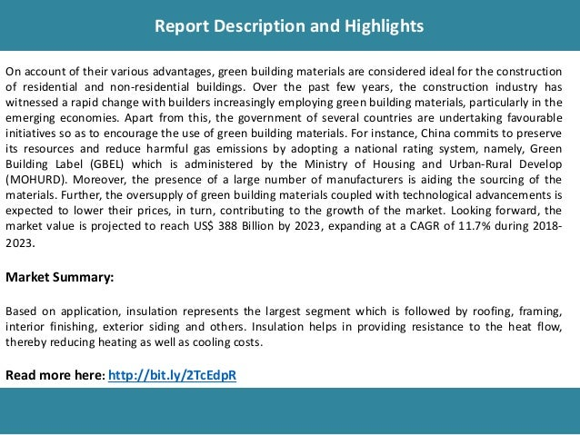 Green Building Materials Market Research, Trends, Growth