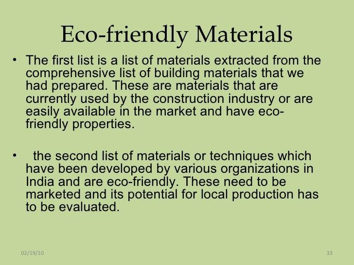 Green building materials techniques3 nov 2009spm for Home building materials list