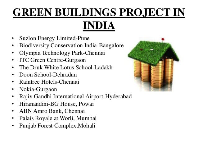 Green buildings for Green building resources