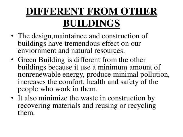 BENEFITS OF GREEN BUILDING ...