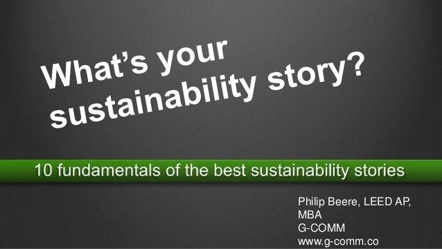 Philip Beere, LEED AP, MBA G-COMM www.g-comm.co