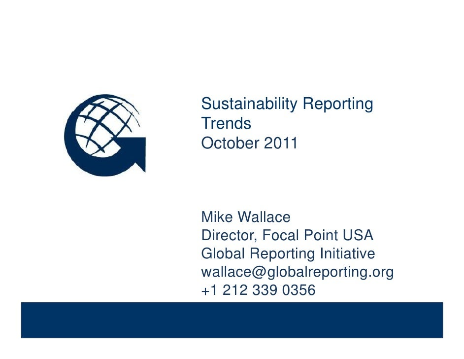 Sustainability Reporting Trends              Sustainability Reporting                           y   p     g              T...