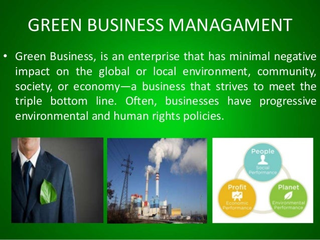 Green Business Management Over View