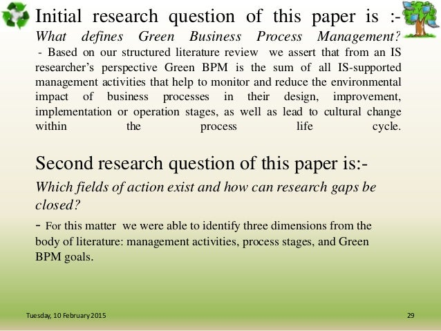 research paper on business process management As a bpm researcher, i always consider bpmj the first outlet to submit my research results in turn, bpmj is also the major source in keeping up to date with the extensive body of knowledge of our discipline as a teacher of bpm at a number of universities through europe, papers published in bpmj mark an essential.