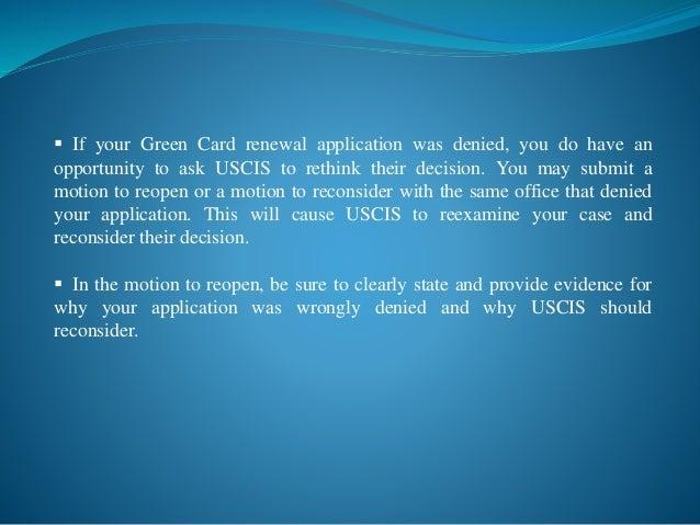 Green Card Renewal (Form I-90)