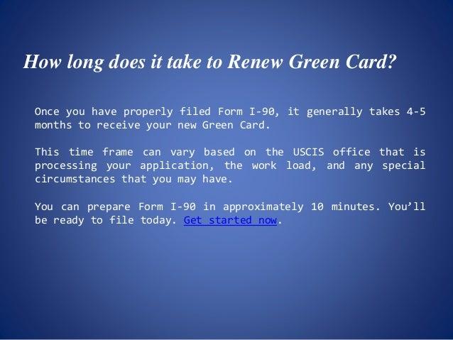 Green Card Renewal Instructions Using Form I 90