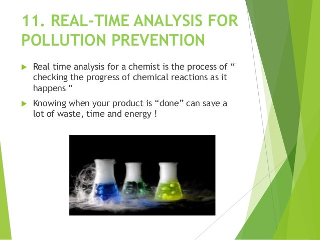 """11. REAL-TIME ANALYSIS FOR POLLUTION PREVENTION  Real time analysis for a chemist is the process of """" checking the progre..."""