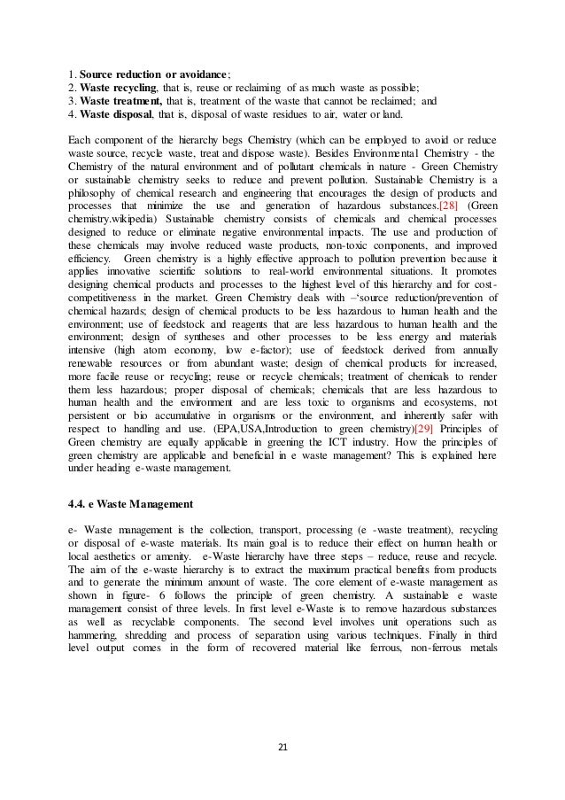 e-waste management thesis ghana Waste management and recycling environmental sciences essay  e-waste management electronic waste is defined as all the secondary computers, entertainment.